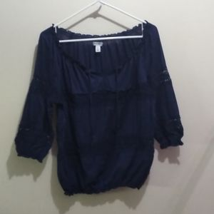 2/$15. Old Navy peasant blouse size medium
